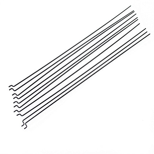 XPURC Steel Z PULL/PUSH Rods 1.2x120mm 10 Pcs Apply to Rc Airplane Boat Replacement Parts