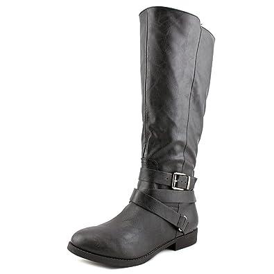 66cc866fba8c Style   Co. Womens Lolah Wide Calf Closed Toe Fashion Boots Black Size 5.5 M