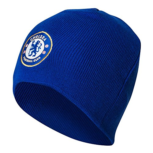 Official Chelsea FC Knitted Hat Beanie Royal