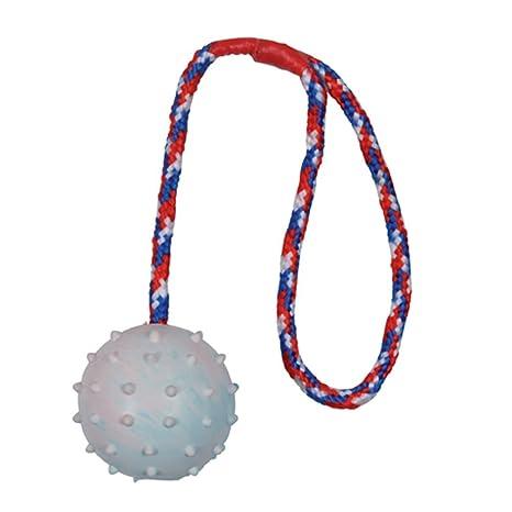 Trixie goma natural de pelota cuerda - 6 cm/30 cm, varios colores ...