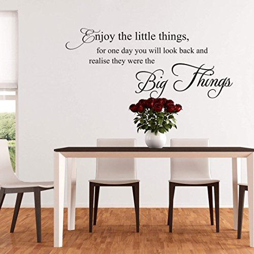 Vinyl Wall Quotes, Wall Decals Quotes, Wall Art Quotes - Enjoy the little things - Art. 7502- 47''x20'' - black - Wall-Art US by Wall-Art.us