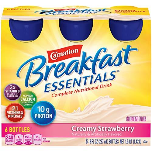 Carnation Breakfast Essentials Ready To Drink, Creamy Strawberry, 8 Fl Oz Bottle - (6 counts) ()