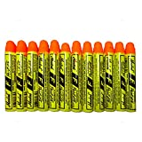 12 Pc Box Flourescent Orange Markal F Paintstiks Glow UV Black Light Crayon Metal Glass Wood Rubber for Auto Tire Construction Lumber