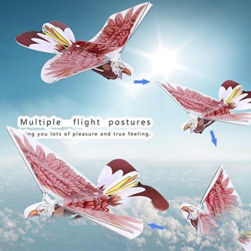 Brown Wing 2 Types Volant RC Aigle Oiseaux T/él/écommande Oiseau RC Enfants Jouets Drfeify RC Oiseau Jouet
