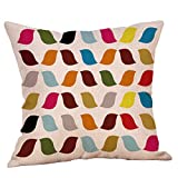 Pgojuni Christmas Throw Pillow Cases Geometric Fall Autumn Sofa Throw Cushion Cover Home Decor 1pc 45cmx45cm (I)