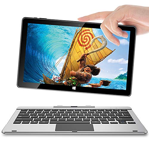 Jumper EZpad 6 Pro 11.6 Inch 2 in 1 Laptop FHD IPS Touch Screen Tablet PC 6GB DDR3L 64GB Intel Quad Core Processor Windows 10 Home Pre-Installed (with Keyboard)