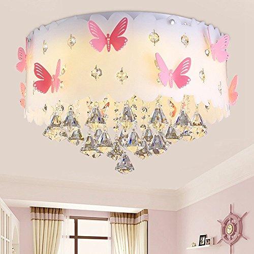 Moderne Deckenlampe Kristall Anhänger Prinzessin Mädchen ...
