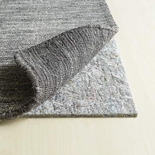 "RUGPADUSA, 8'x10', 1/4"" Thick, Basics 100% Felt Rug Pad, Available in Multiple Thicknesses, Adds Cushion and Floor Protection Under Rugs, Safe for All Floors and Finishes"