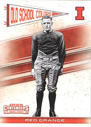 Red Grange Illinois - 2018 Panini Contenders Draft Picks Old School Colors #18 Red Grange Illinois Fighting Illini Football Card