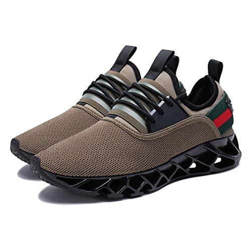 Air Marrone Leggero Uomini da Scarpe Trainers Casual Unisex Fitness Sneakers Assorbente Cuciture Colore Palestra Sport Running Camminare BgwUqdaw
