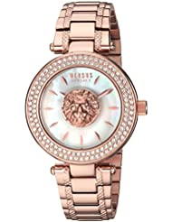 Versus by Versace Women's 'BRICK LANE' Quartz Stainless Steel and Gold Plated Casual Watch(Model: S64100016)