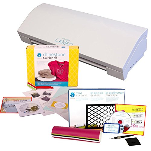Silhouette Cameo 3 Bluetooth with Silhouette Heat Transfer and Silhouette Rhinestone Starter Kits by Cameo
