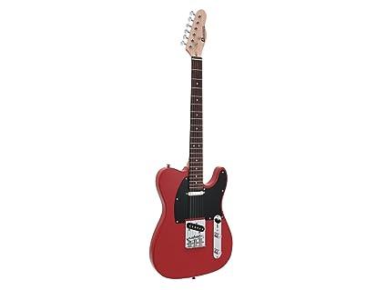 Guitarra eléctrica IKARUS con diapasón de palisandro, rojo ...