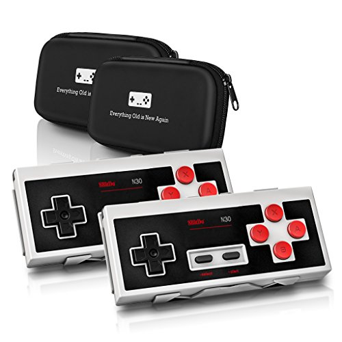 8Bitdo N30 Wireless Controller Double-Pack Bundle - Includes Carrying Cases - Updated 2018 Version - Android/Mac/PC/Switch/NES and SNES Classic