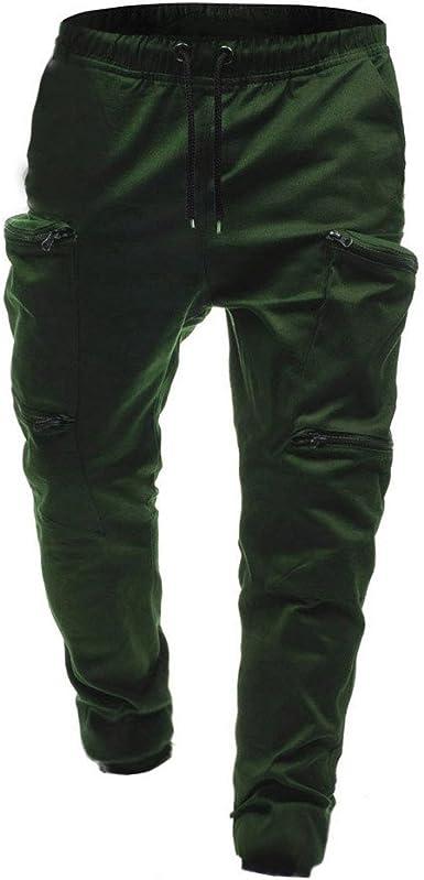 X-Future Mens Jogger Drawstring Solid Slim Fit Elastic Waist Sports Simple Lounge Pants