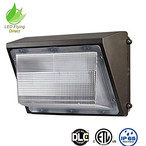 LED Flying Direct Glass Cover 100w LED Wall Pack Light, Security Light Outdoor LED Wallpack Lighting, 5000K Cool White, 11000 Lumens 400 Watt Equivalency ETL DLC (100 -