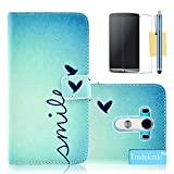 LG G3 Case, LG G3 Flip Case, Tradekmk(TM) Fashion Slim Flip Leather Stand Phone Case Cover[Little Heart-shape] For LG G3[+Stylus+Screen Protector+Cleaning Cloth]