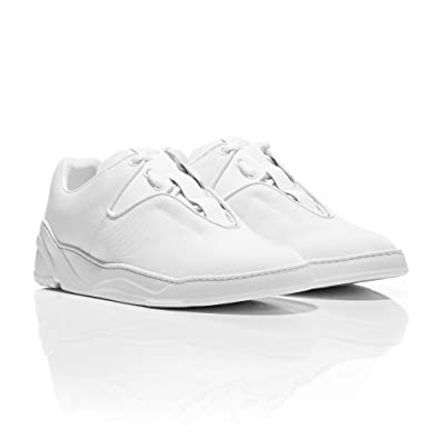 fe22d8b1168b Dior Homme Triple White Nylon Canvas and Calfskin Sneakers (9 UK ...
