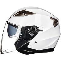 Ballylelly Casco Abierto de Motocicleta Moto Ciclomotor Jet