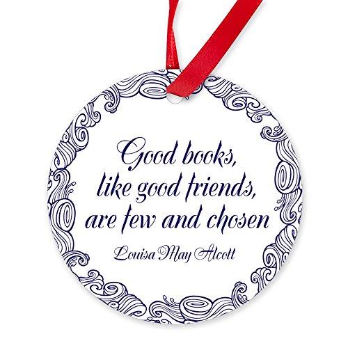 - CafePress - Good Books - Round Christmas Ornament
