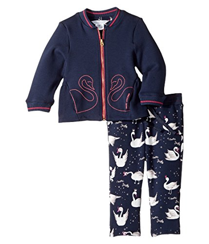 Little Marc Jacobs Baby Girls' 2 Pcs Jacket and Trousers Infant, Dark Indigo, 6 Months by Little Marc Jacobs