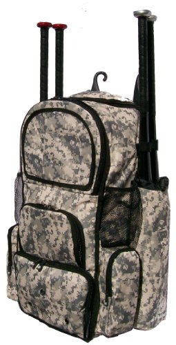 Digital Camouflage Chita II (L) Adult Softball Baseball Bat Equipment Backpack by MAXOPS
