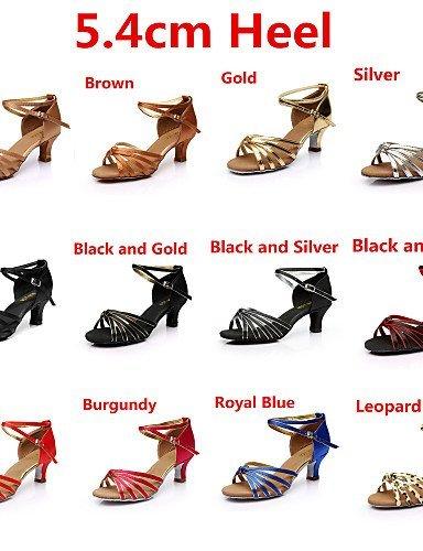 ShangYi SUN LISA Customizable Women's Dance Shoes Latin / Salsa Satin Customized Heel Black / Brown / Gold / Leopard / Other leopard cZBUU