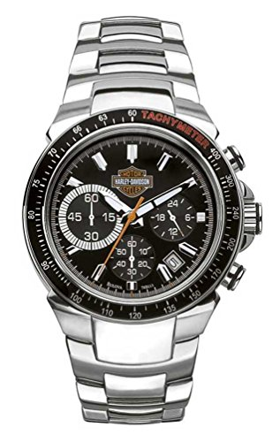Harley-Davidson Men's Bulova Chronograph Bar & Shield Wrist Watch 78B113 ()