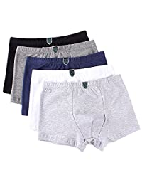 Boys' Boxer Briefs Cotton Underwear Comfortable Shorts Toddler Boxer 5-Pack