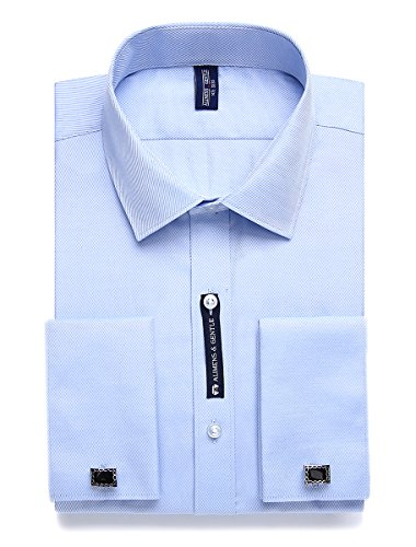 Alimens & Gentle French Cuff Regular Fit Dress Shirts (Cufflink Included) (17
