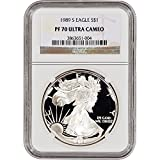 1989 S American Silver Eagle Proof $1 PF70 UCAM NGC