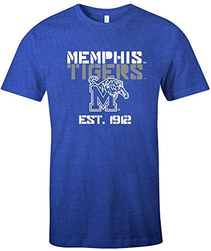 Ncaa Basketball Jersey Shirt (NCAA Memphis Tigers Est Stack Jersey Short Sleeve T-Shirt, Royal,Large)