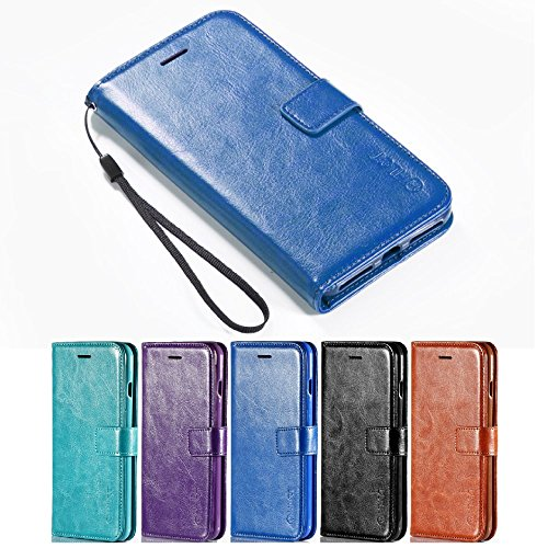 iPhone 8 Case, iPhone 7 Case, HLCT PU Leather Wallet Case, W