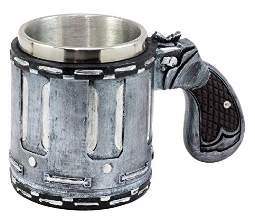 (Ebros Gift Western Revolver Gun Pistol Barrel Case Mug Beer Stein Tankard Coffee Cup 6.75