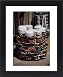 Framed Print of Islamic caps (Muslim hats) on sale at Aswan Souq, Aswan, Egypt, North Africa