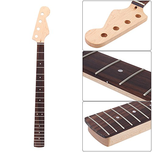 ammoon 21 Fret Bass Maple Neck Rosewood Fingerboard for Fender JAZZ Replacement by ammoon (Image #6)