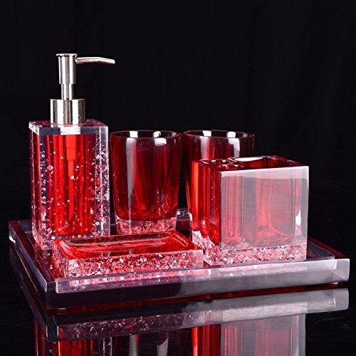 GTVERNH-Recipients Of The Gifts The Resin Bath Set Bathroom Vanity 6-Piece Toilet Bathroom Vanity Kit C