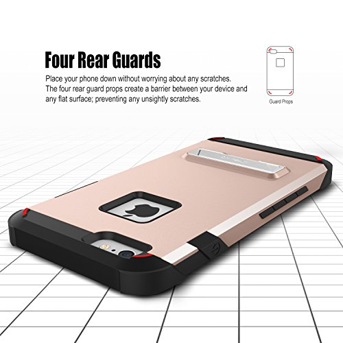 OBLIQ iPhone 6S Plus Case, [Skyline Advance][Rose Gold] with Magnetic Kickstand Dual Layered Soft Interior Exact Fit Hard Protection Case for iPhone 6S Plus (2015) & iPhone 6 Plus (2014) by Obliq (Image #2)