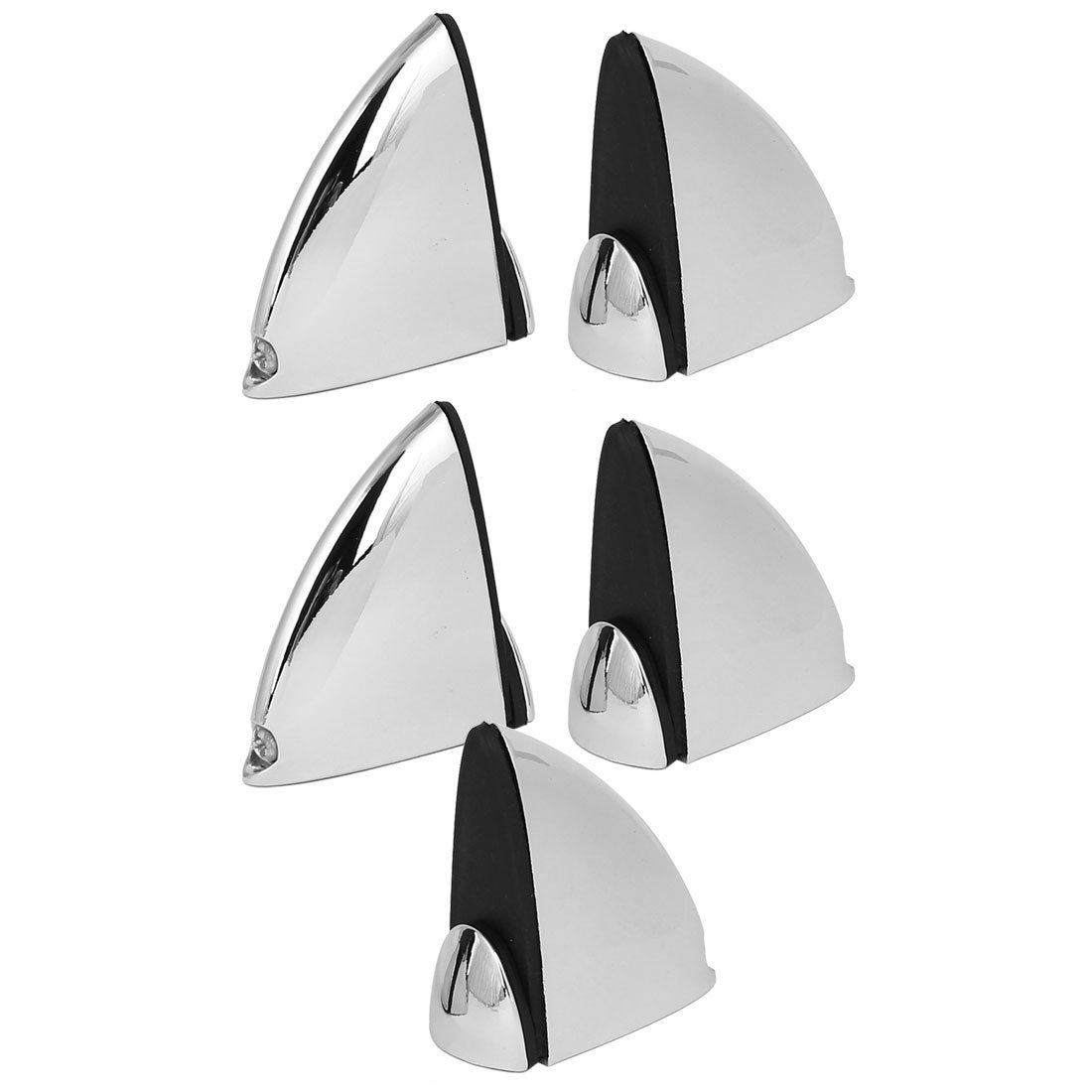 sourcingmap® 5Pcs Presilla De Vidrio Estante Ajustable De Metal Soporte De Abrazadera Para 5Mm-15Mm De Espesor a16063000ux0109