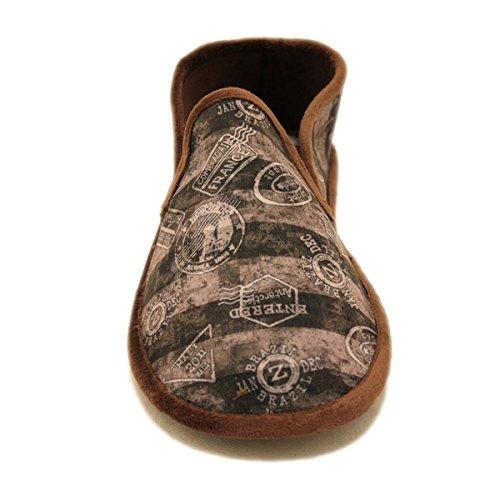 Zapatillas Cosdam Biorelax dibujos Náuticos marrones Marrón