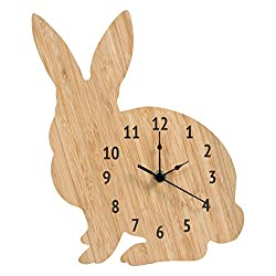 Trend Lab Bamboo Wall Clock, Tan, Bunny