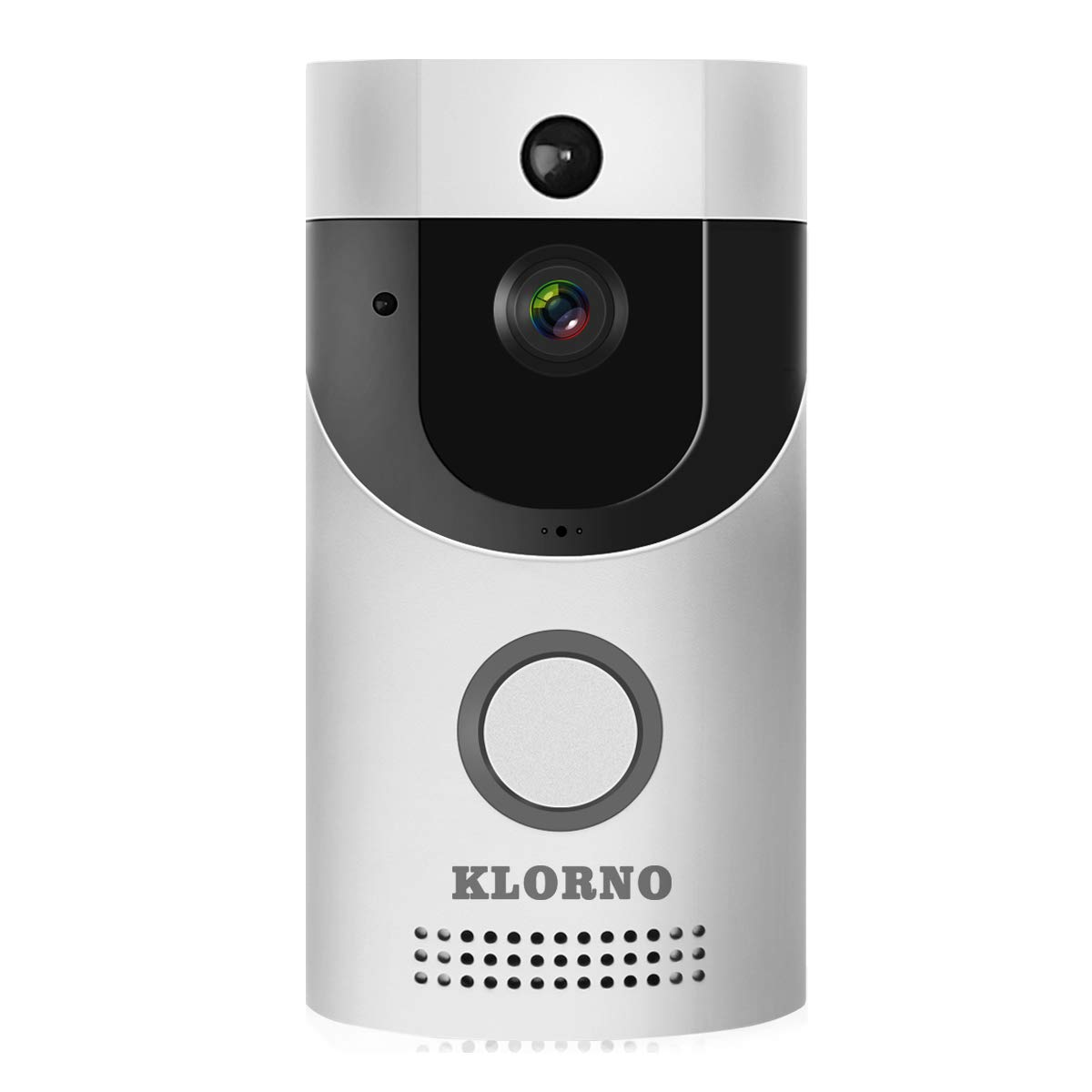 WIFI Video Doorbell, Smart Doorbell HD Security Camera with Chime, Real-Time Two-Way Talk and Video, Night Vision, PIR Motion Detection, ultra-slim design and App Control for IOS and An (Silver) by KLORNO (Image #8)