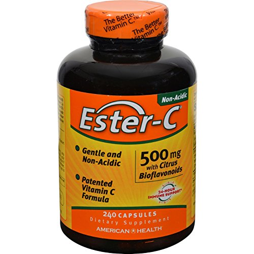 4 Pack of American Health Ester-C with Citrus Bioflavonoids - 500 mg - 240 Capsules - - - by American Health