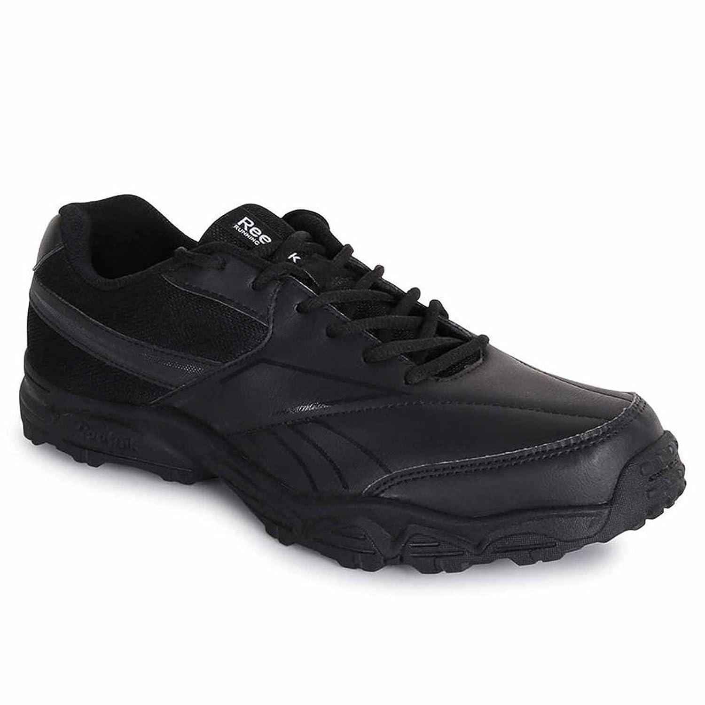 dc3c4a2cbb8944 Reebok Black Formal School Shoes for Men School Uniform Wear (UK India Size  6