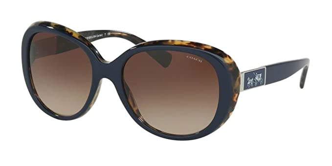 a8ac315f30 Coach HC 8120 Sunglasses 537913 Navy Milky Tortoise 57-18-135   Amazon.co.uk  Clothing