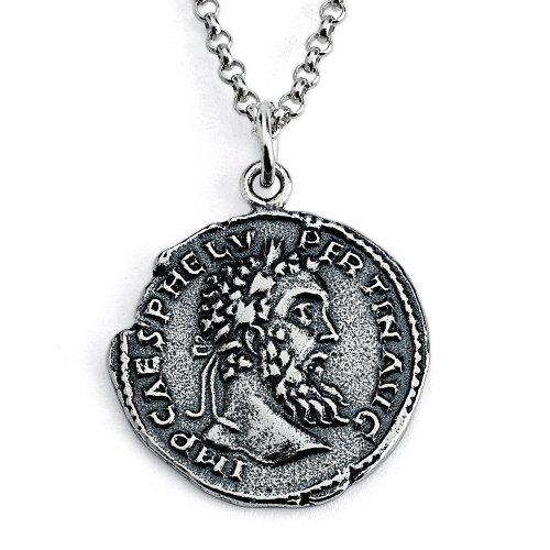 - Azaggi Sterling Silver Handcrafted Replica Pertinax Ancient Rome Coin Pendant Necklace (24)