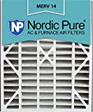 Nordic Pure 20x25x5 (4-7/8 Actual Depth) MERV 14 Trion Air Bear Replacement Pleated AC Furnace Air Filter, Box of 1