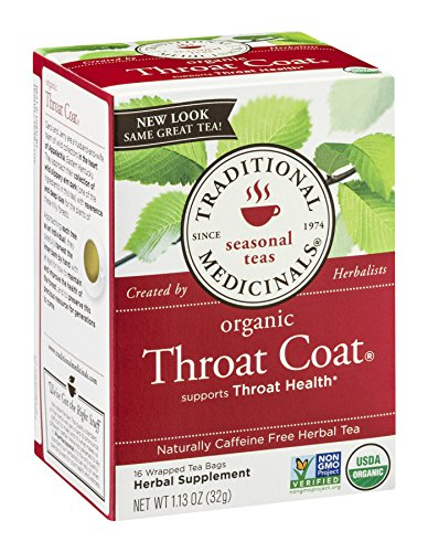 Traditional Medicinals Traditional Coat (Traditional Medicinals Tea Throat Coat, 16 Bags)