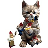 Your search is over for the perfect gift for any garden or home. Anyone will love this cute original cat eating gnomes design. High quality handcrafted from durable resin material. Brought to you exclusively by the By Mark and Margot Brand.