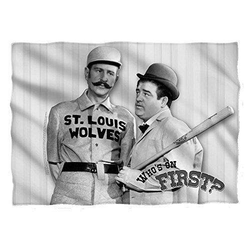 Who's On First? -- Abbott & Costello -- Pillow Case (Front/Back Print)